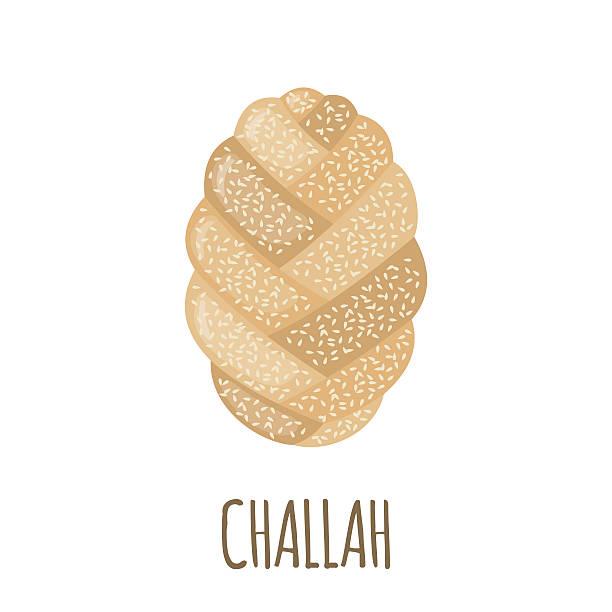 challah icon in flat style. - brotzopf stock-grafiken, -clipart, -cartoons und -symbole