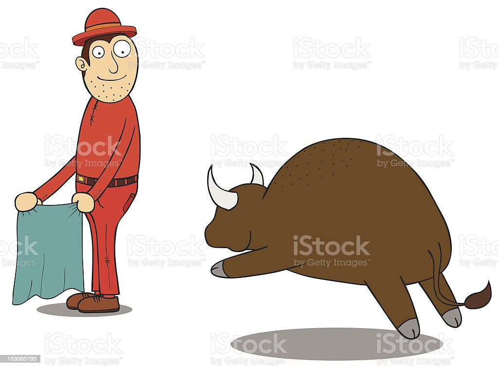 Challanging Buffalo royalty-free stock vector art