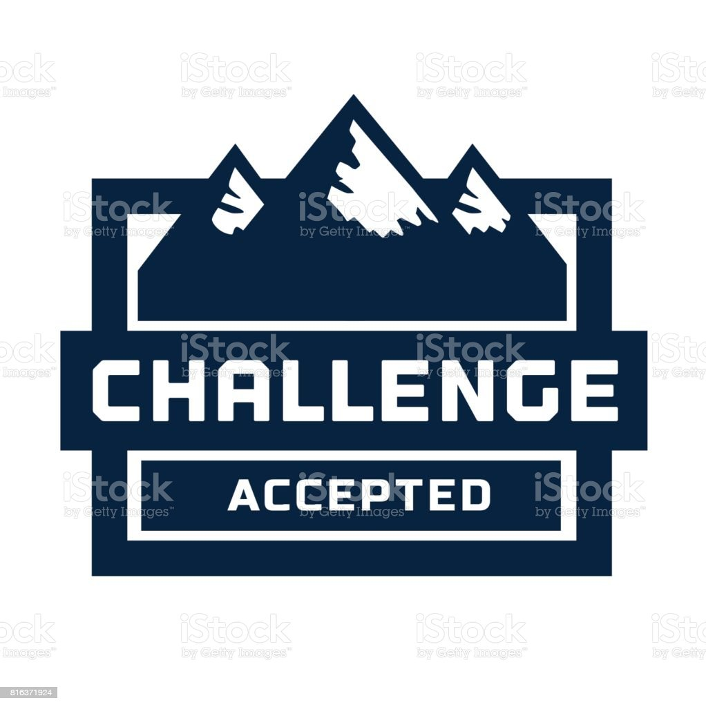 Challenge Slogan Concept Stock Vector Art & More Images of
