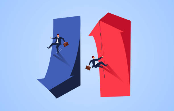 Challenge the risks of success and failure Challenge the risks of success and failure loss stock illustrations