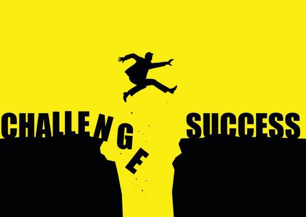 成功への挑戦 - 希望点のイラスト素材/クリップアート素材/マンガ素材/アイコン素材