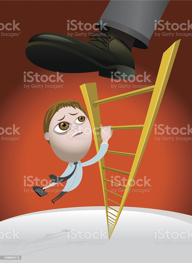 Challenges of Climbing the Corporate Ladder royalty-free stock vector art