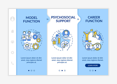 Challenging and learning tasks onboarding vector template