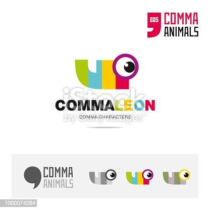 Chamäleon Tier Konzept Symbol Vorlage Für Moderne Marke Identität
