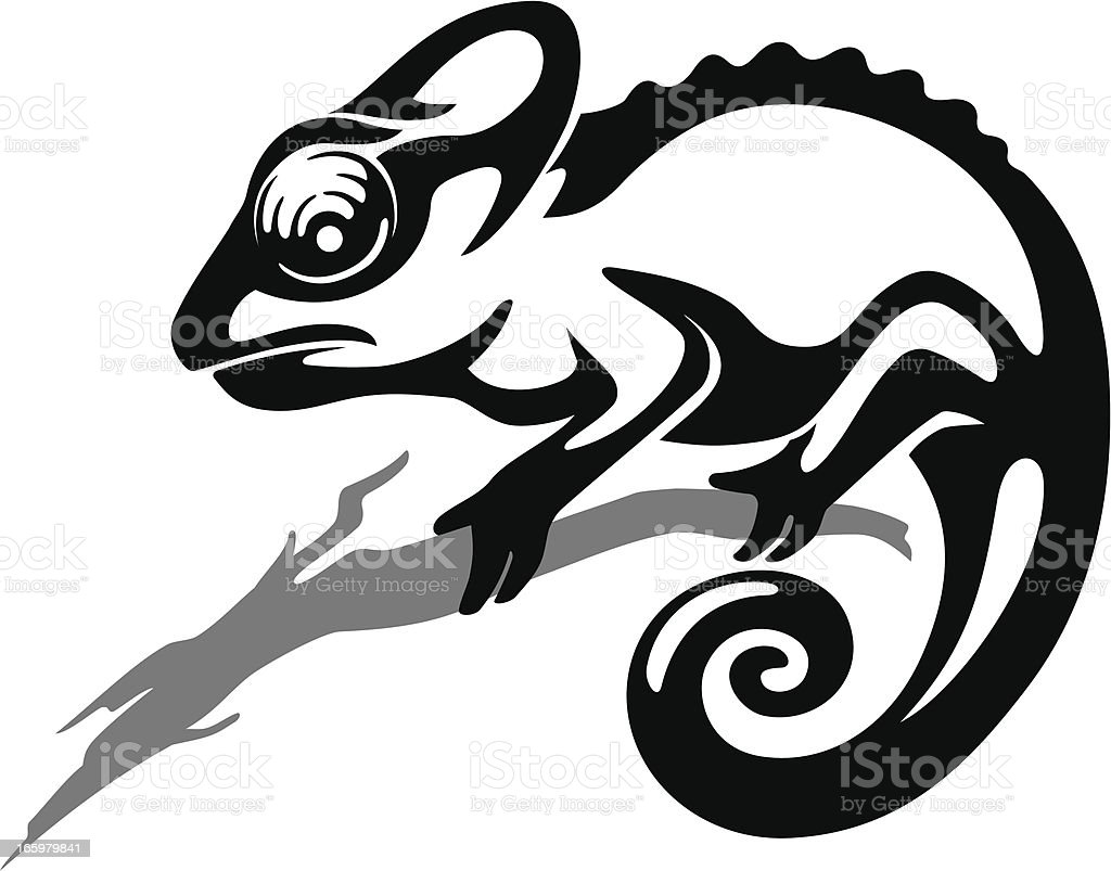 Chameleon Lizard royalty-free stock vector art