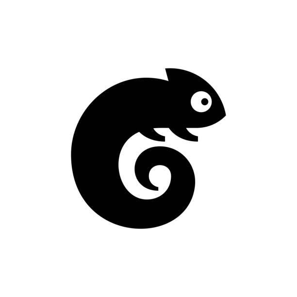 Chameleon Logo Chameleon Logo. Icon design. Template elements chameleon stock illustrations