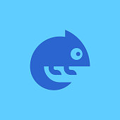 Chameleon Logo. Icon design. Template elements