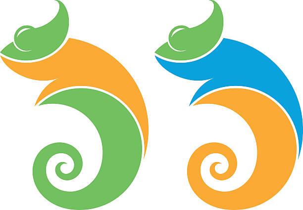 chameleon - chameleon stock illustrations