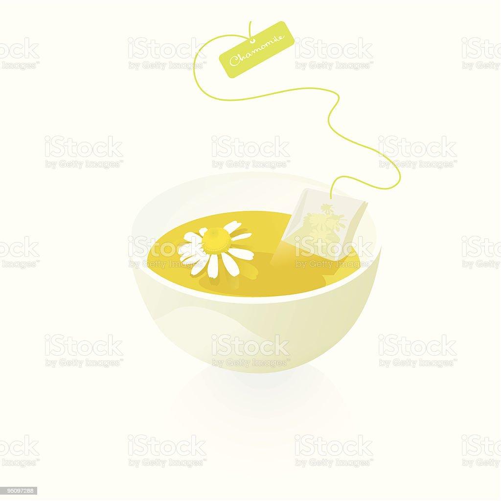 Chamomile Tea Cup -Design Elements vector art illustration