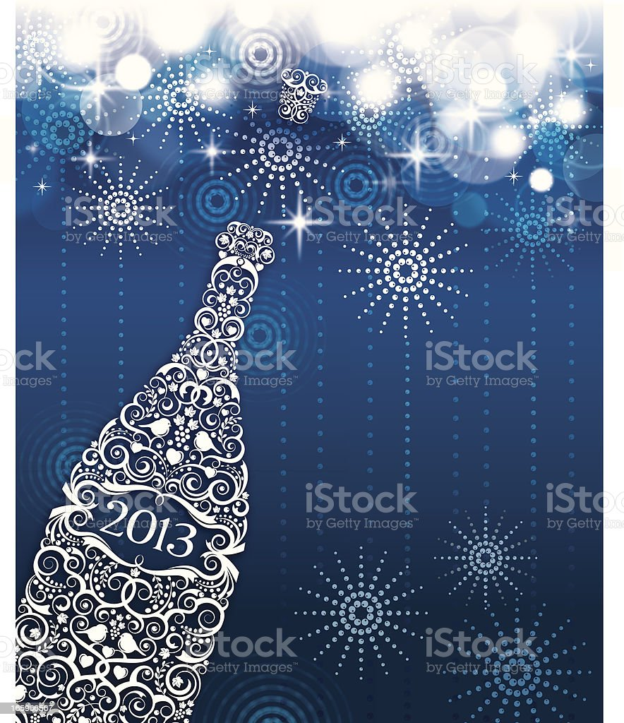 Champagne and Fireworks Celebration royalty-free stock vector art