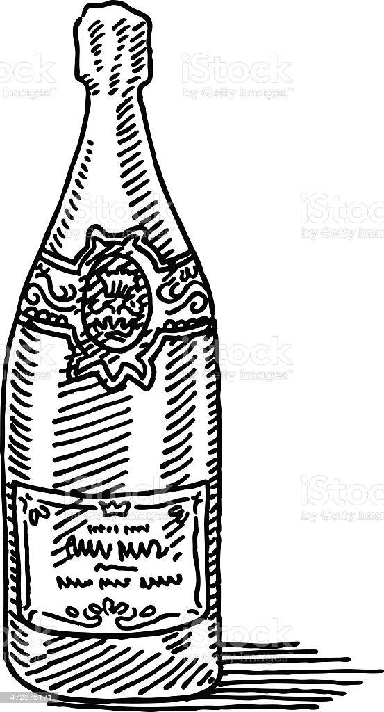 Bouteille De Champagne Dessin bouteille de champagne de dessin – cliparts vectoriels et plus d