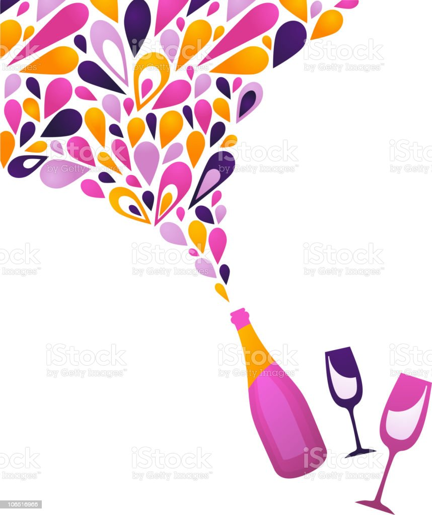 champagne bottle splash new year celebration royalty free champagne bottle splash new year celebration