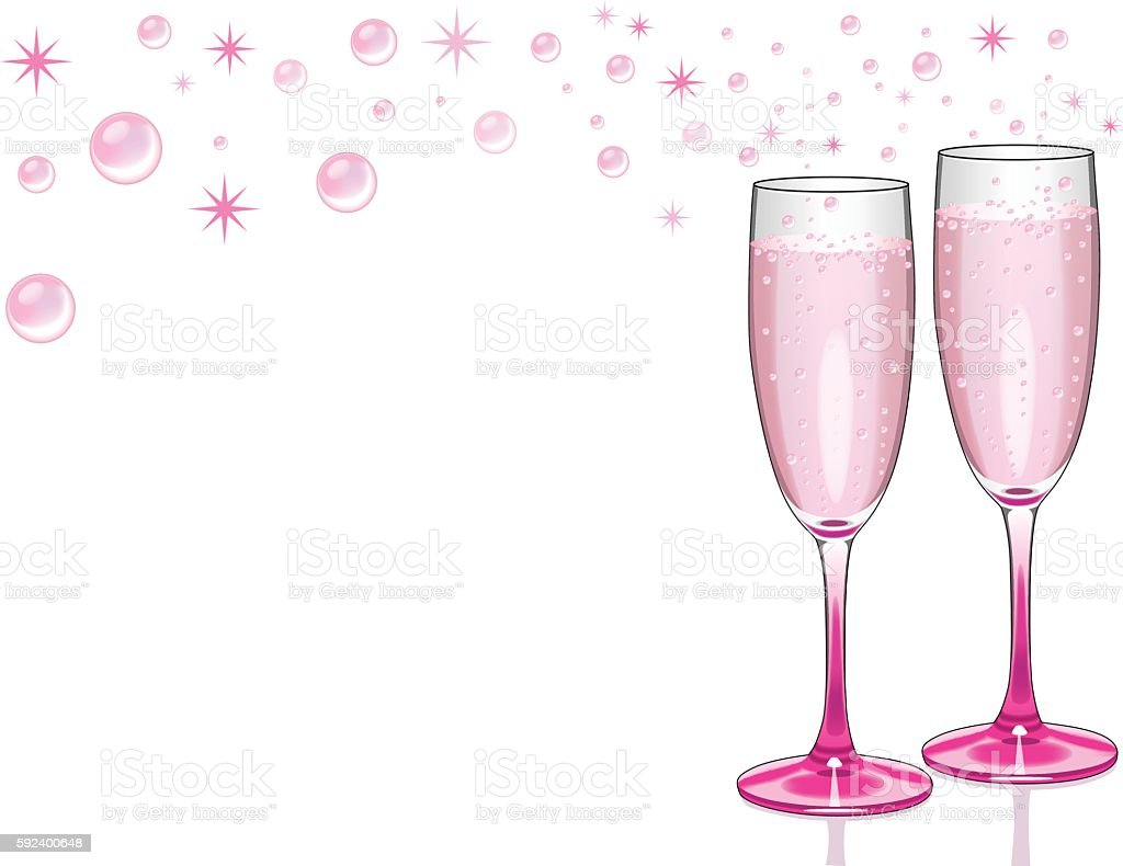 Champagne Celebration Background vector art illustration