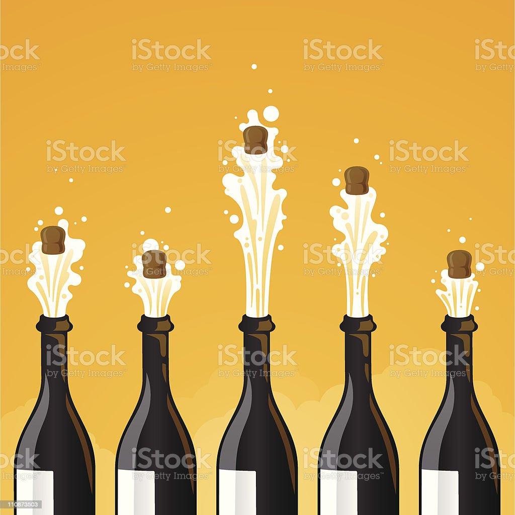 Celebración de champán - ilustración de arte vectorial