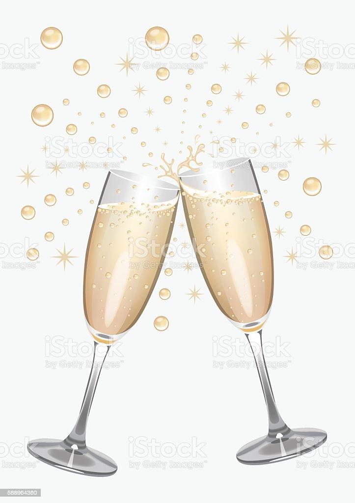 Champagne Celebrations vector art illustration