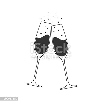 istock Champagne clink 1290067880