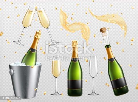istock Champagne Essentials Transparent Set 1184397927