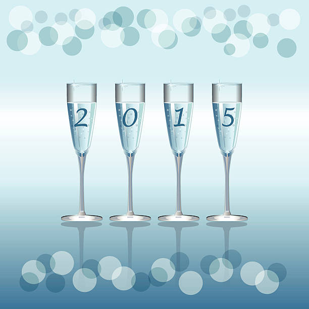 Champagne Flutes Vector holiday background with Champagne Flutes champaign illinois stock illustrations
