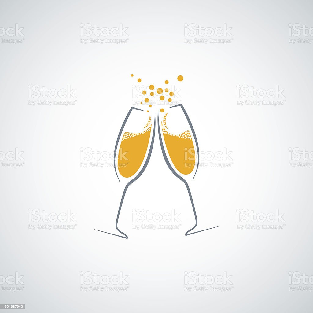 champagne glass background vector art illustration