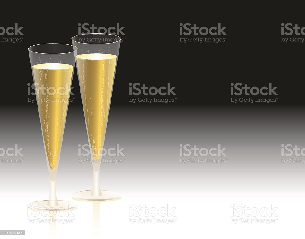 Champagne Glasses royalty-free champagne glasses stock vector art & more images of alcohol