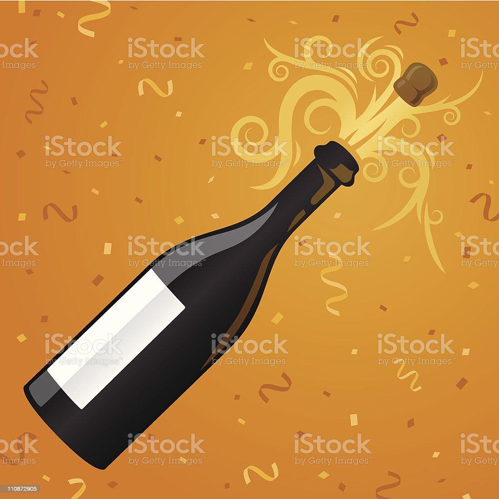 Fiesta con champán - ilustración de arte vectorial