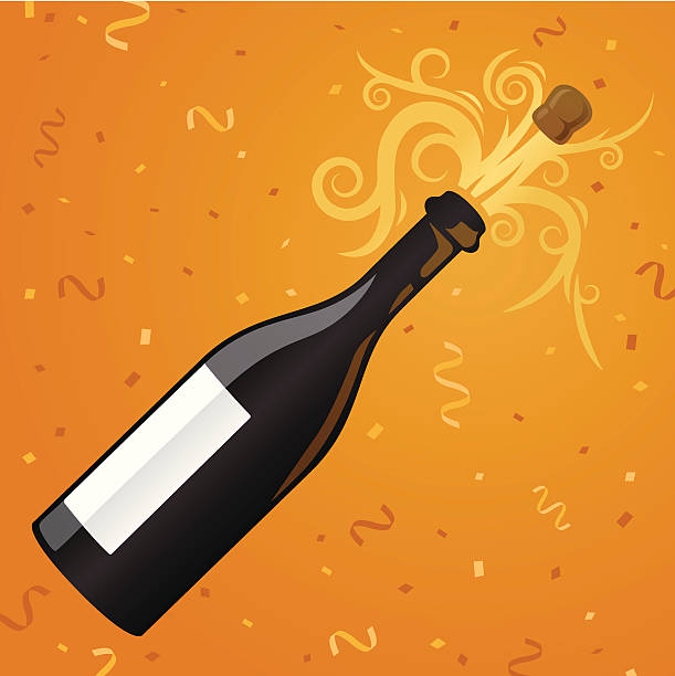 champagne party - office party stock illustrations, clip art, cartoons, & icons