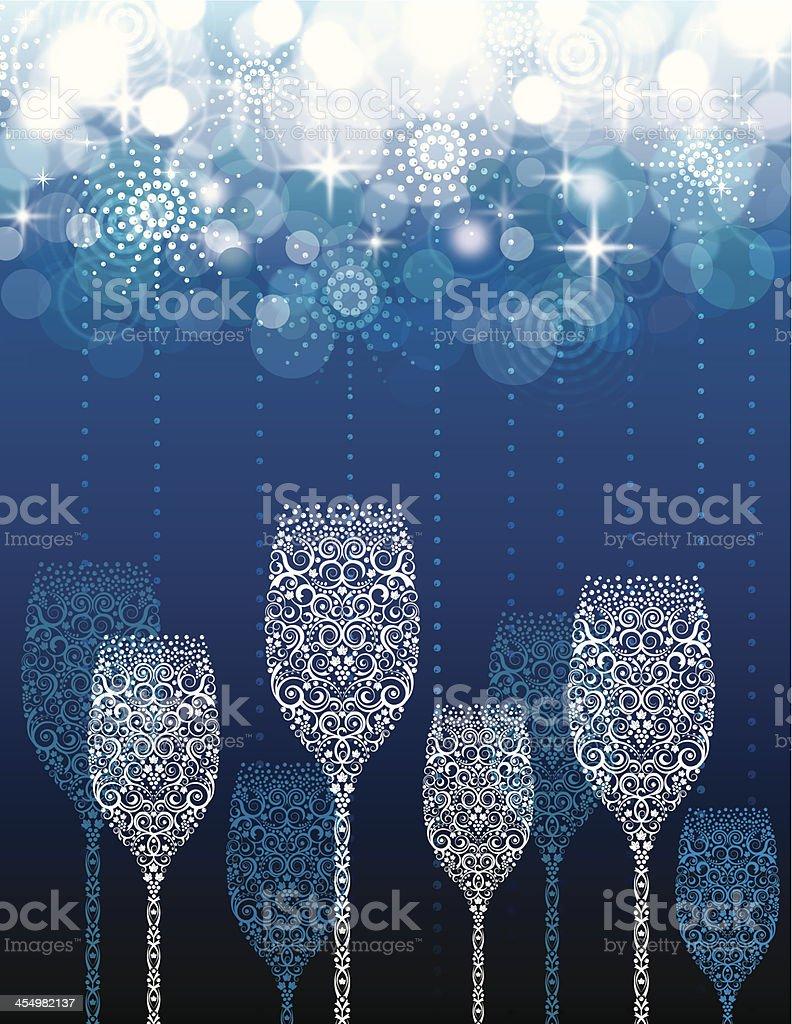 Champagne Toast Celebration vector art illustration