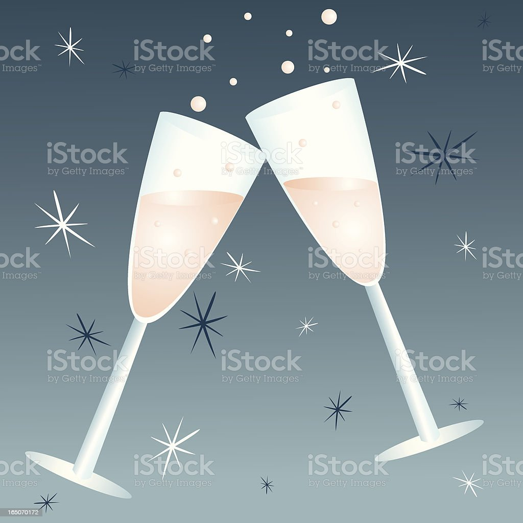 Champagne Toast royalty-free champagne toast stock vector art & more images of alcohol