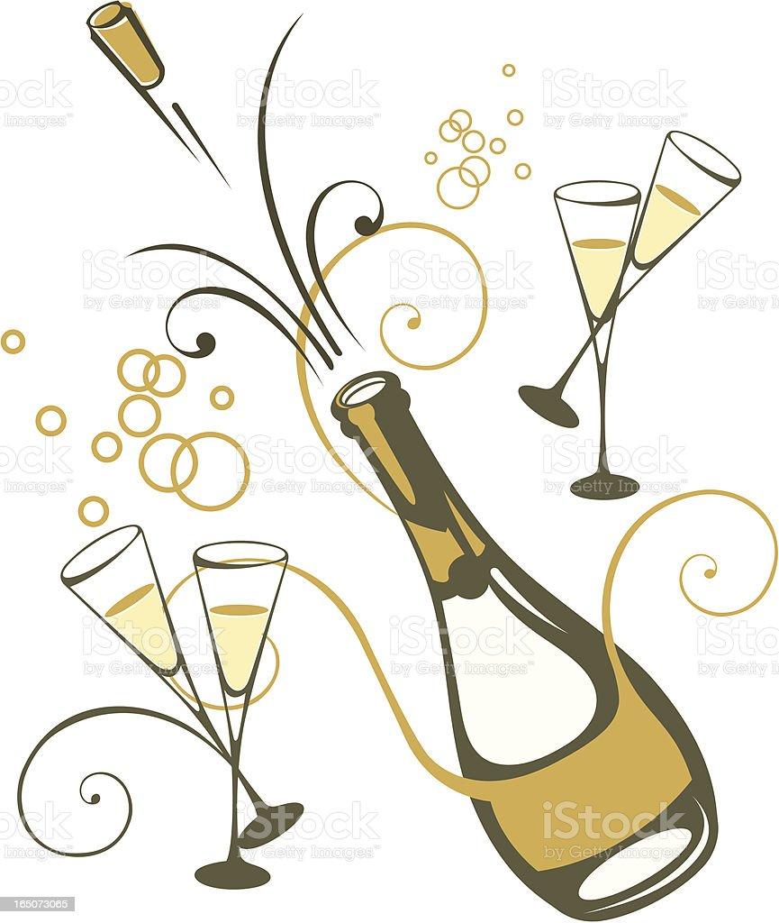 Szampan. - Grafika wektorowa royalty-free (Alkohol - napój)