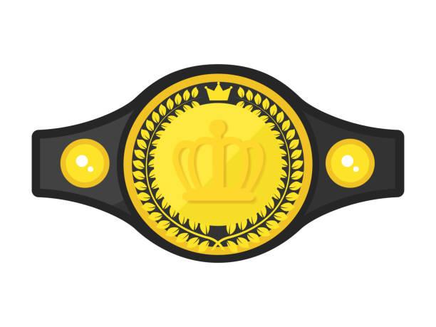 Champion belt vector art illustration