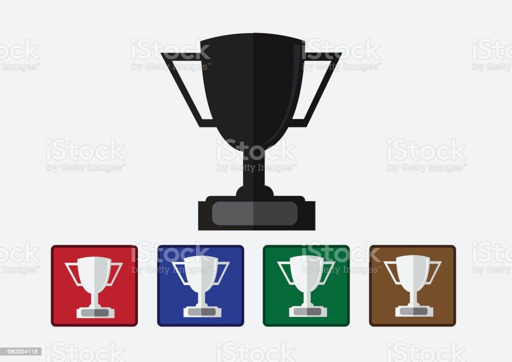 champions cup icon in illustration idea design royalty-free champions cup icon in illustration idea design stock vector art & more images of achievement