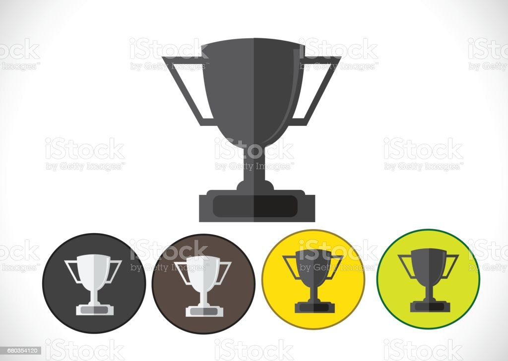 champions cup icon in illustration idea design royalty-free champions cup icon in illustration idea design stock vector art & more images of achievement