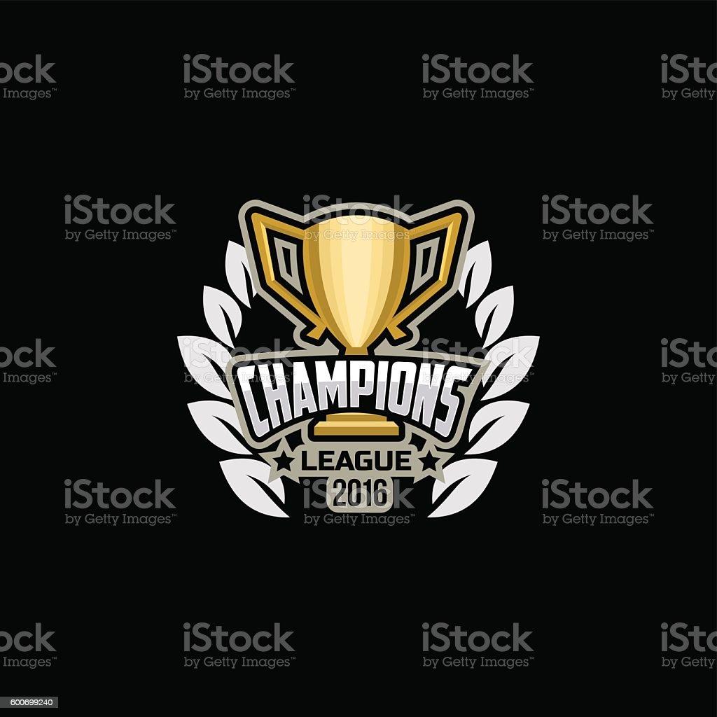 Champions sports league logo vector art illustration