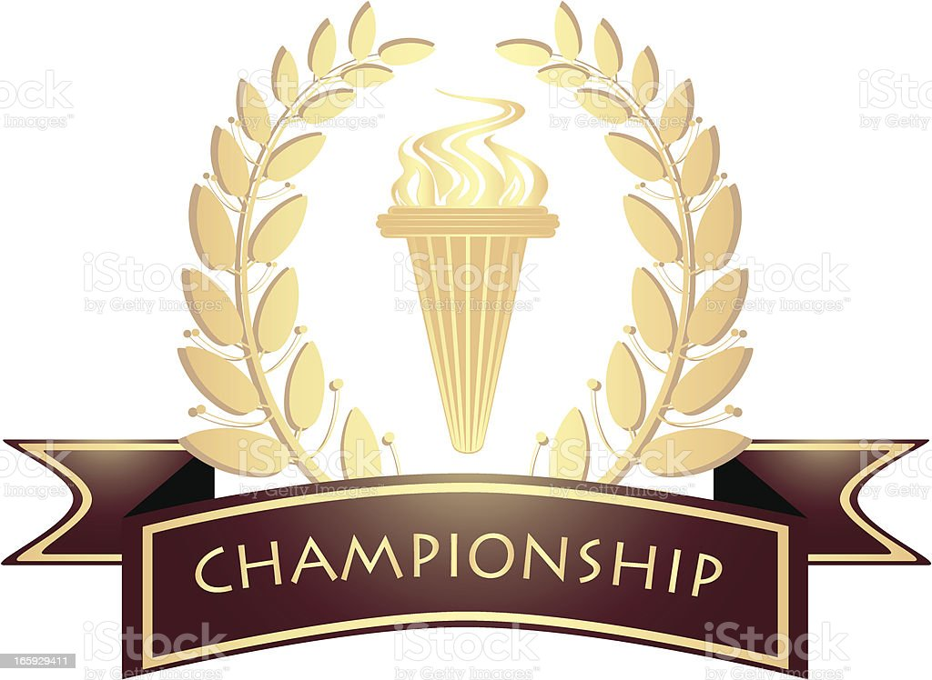 Championship Golden Banner royalty-free championship golden banner stock vector art & more images of aspirations