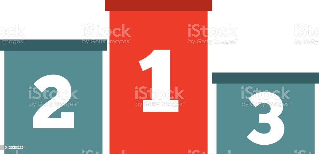 championship podium isolated icon vector art illustration