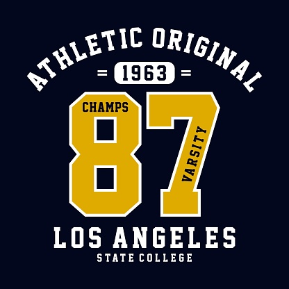 champs varsity graphic design for t-shirt