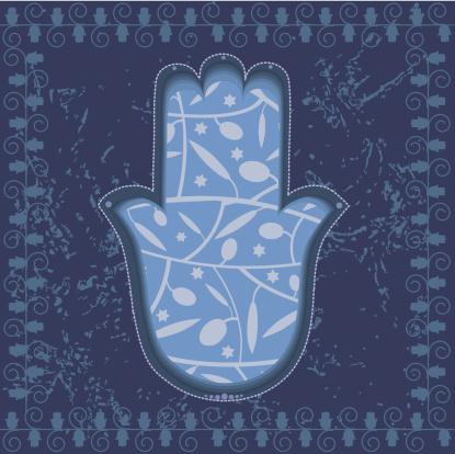 Chamsa Or Fatima Hand On Decorative Grunge Background