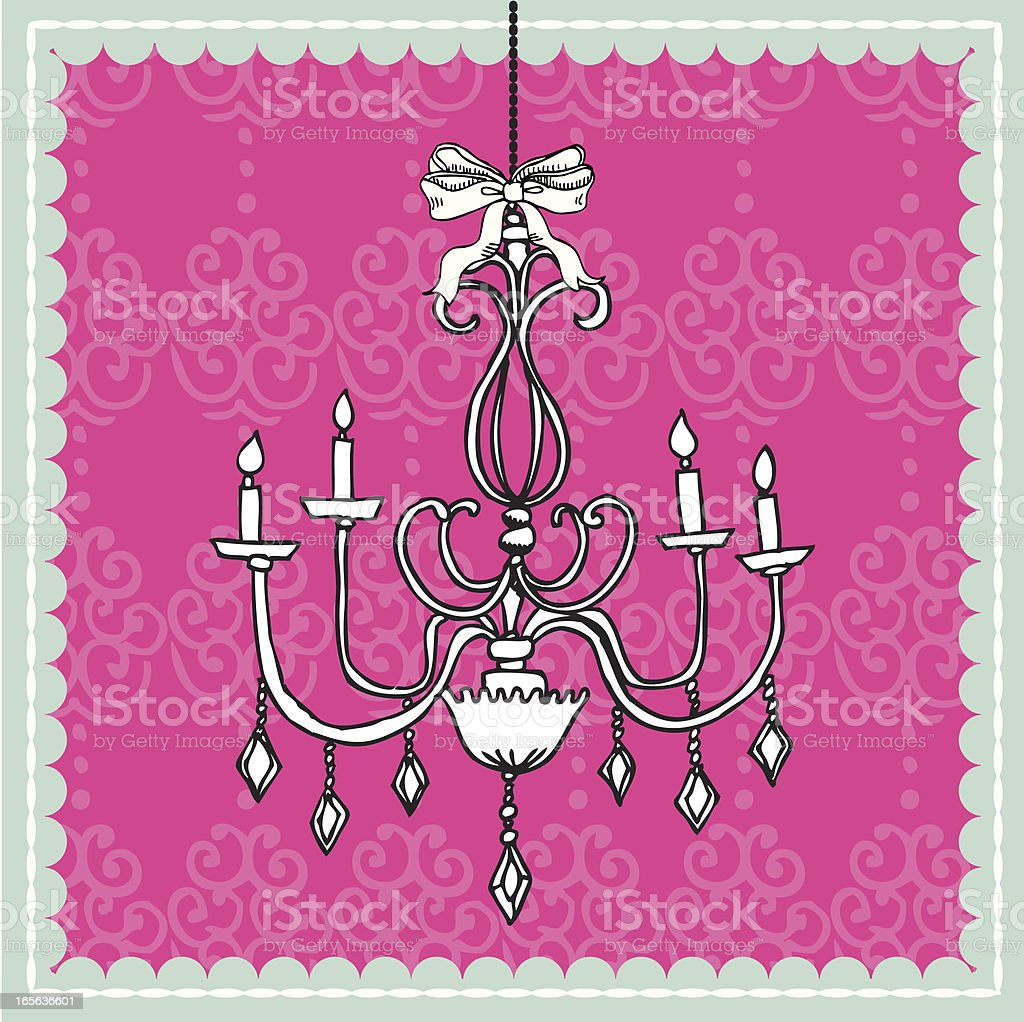 chandalier vector art illustration