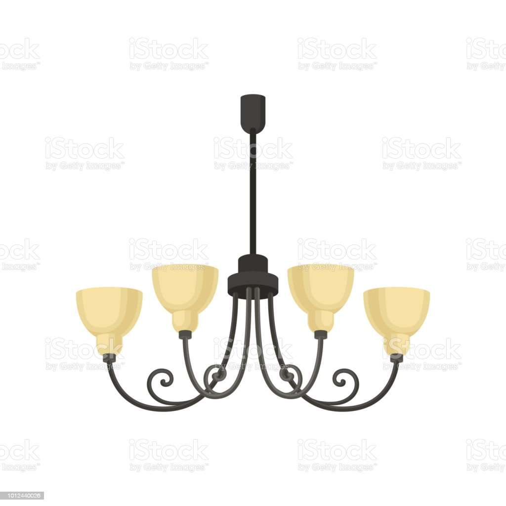 Chandelier interior design element vector illustration on a white background royalty free chandelier interior