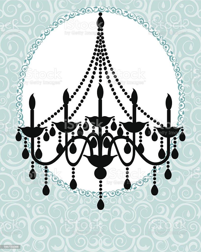 Chandelier Invitation vector art illustration