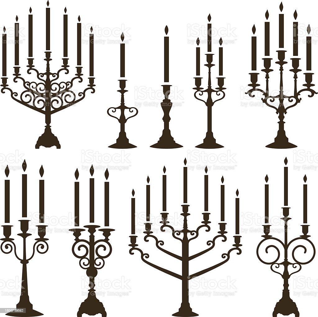 chandelier set vector art illustration
