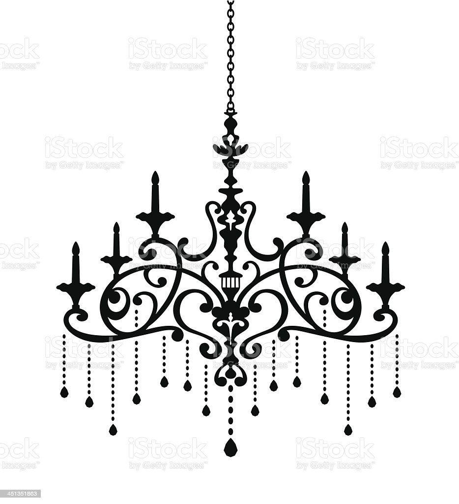 Chandelier Silhouette of Phoenix royalty-free chandelier silhouette of phoenix stock vector art & more images of antique