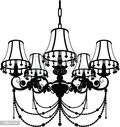 Chandelier silhouette stock vector art more images of black and chandelier silhouette stock vector art more images of black and white 136411471 istock aloadofball Gallery