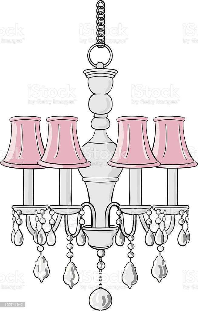 Chandelier vector art illustration