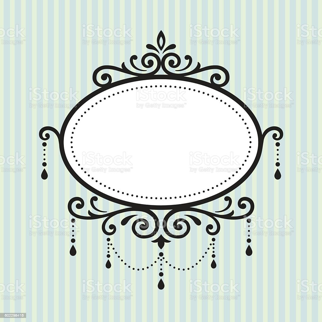 Chandelier Vintage Frame Stock Vector Art & More Images of Art ...