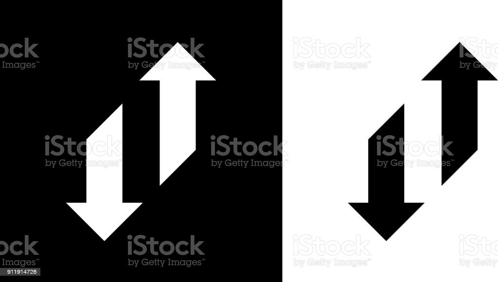 Change Arrows Up And Down. vector art illustration