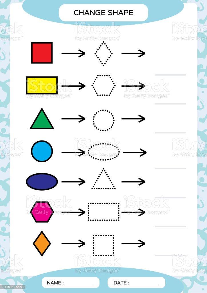 Rengi Degistirin Renkli Sekiller Temel Sekiller Ogrenme Renk Trace