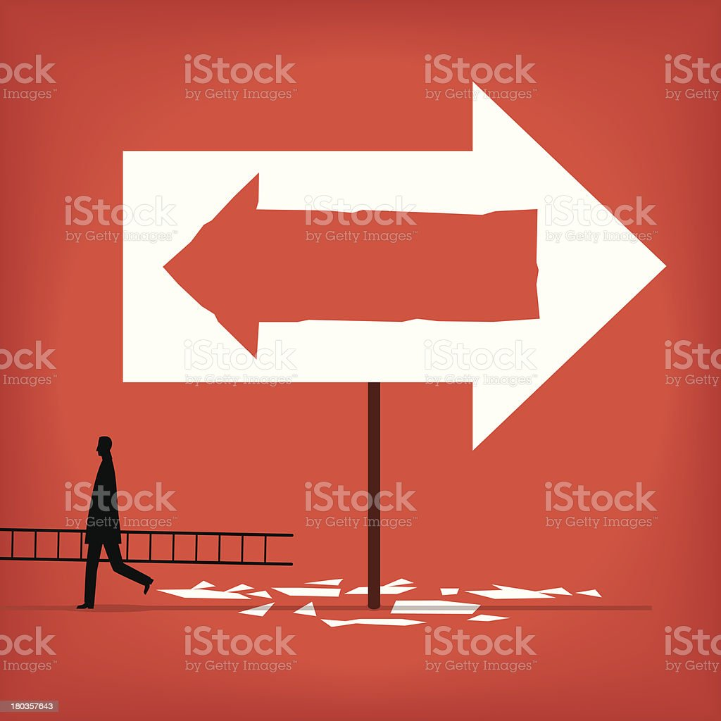 Change Direction vector art illustration