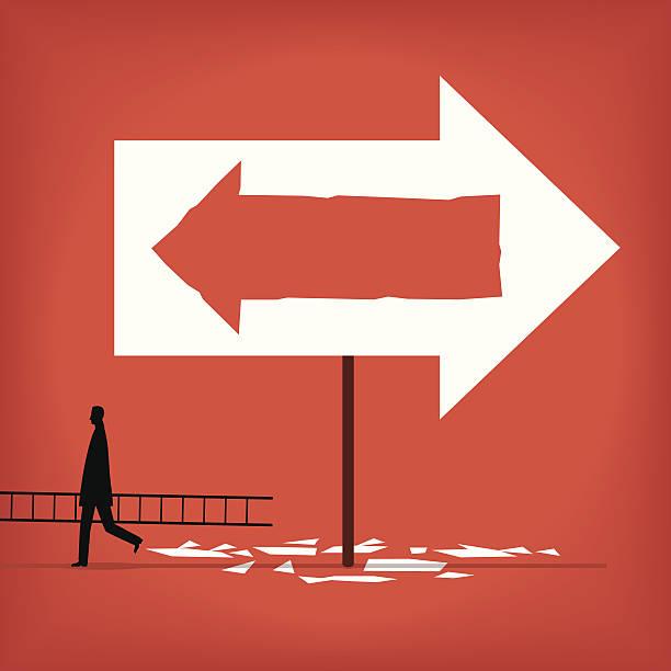 Change Direction vector art illustration