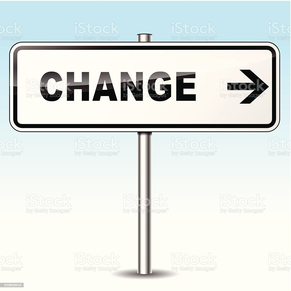 change sign vector art illustration